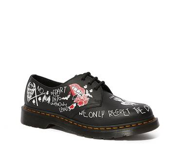 1461 Rebel Leather Printed Oxford Shoes