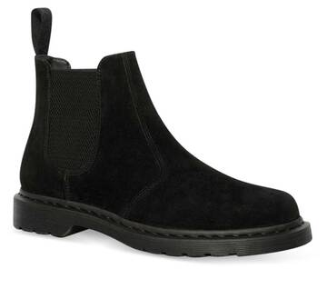 2976 Black Suede Chelsea Boot