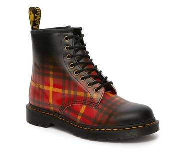 1460 McMarten Tartan Leather Boots