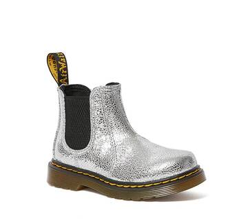 Toddler 2976 Crinkle Metallic Chelsea Boots