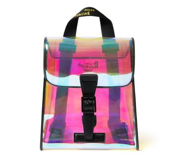 Iridescent PU Mini Backpack