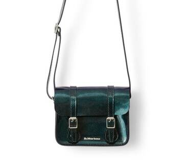 "7"" Sparkle Leather Satchel"